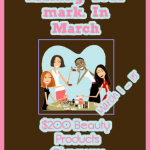 Making your mark. in March Giveaway!