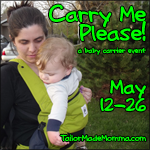 Carry Me Please! – Baby Wearing Giveaway – FREE Blogger Sign Ups