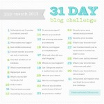 March 31 Day Blog Challenge