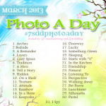 March Instagram Photo a Day Challenge 2013