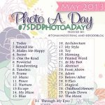 May 2013 Instagram Photo a Day Challenge