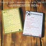 Keeping Open Communication with Teachers with Permission Pads