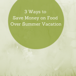 3 Ways to Save Money on Food Over Summer Vacation