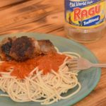 Spaghetti and Homemade Meatballs with Ragu